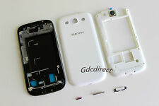 OEM Samsung Galaxy S3 SIII i9300 Complete Full Housing Cover Frame Door White