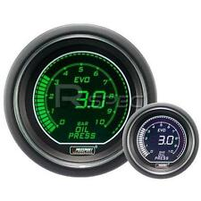 Prosport EVO 52mm CARBURANTE AUTO MANOMETRO bar Verde Bianco Schermo Digitale LCD