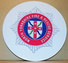 Fire and Rescue Service North Yorkshire  vinyl sticker.
