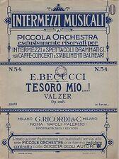 E. Becucci: tesoro milioni...! raccogli 228. LINDHAUS valzer [] per Salon Orchestra banconote
