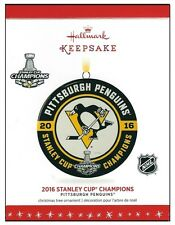 2016 Hallmark NHL Pittsburgh Penguins Stanley Cup Champions Ornament!