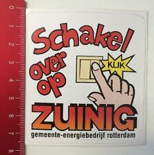 Aufkleber/Sticker: Schakel Over Op Zuinig - Energiebedrijf Rotterdam (10031619)