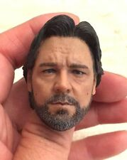 "Custom 1/6 Scale Long Hair Russell Crowe Head Sculpt For 12"" Hot Toys Body"