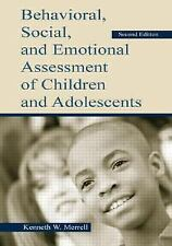 Behavioral, Social, and Emotional Assessment of Children and Adolescen-ExLibrary