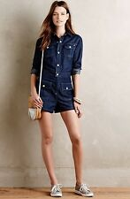 NWT Anthropologie Alexa Chung For Adriano Goldschmied AG Denim Romper Size Large