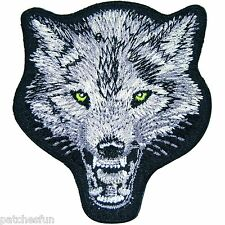 Wolf Fox Dog Animal Wild Indian Biker Motorcycle Iron on Patch Embroidered 0030