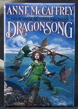 "Dragonsong Book Cover 2"" x 3"" Fridge / Locker Magnet. Anne McCaffrey Pern"