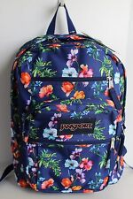 NEW Jansport Backpack Big Student Flowers Navy Montain Meadow Big student pocket