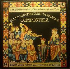 LP GRUPO UNIVERSITARIO DE CAMARA DE COMPOSTELA - cantigas de santa maria, nm