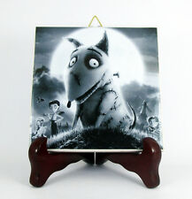 Frankenweenie - Sparky collectible ceramic tile Tim Burton handmade in Italy