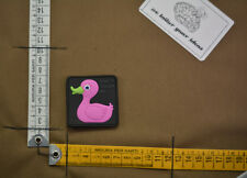 Patch pvc don't touch my duck combat duck full color pink velcro airsoft