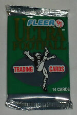 One (1) 1991 FLEER ULTRA FOOTBALL Foil Pack - possible FAVRE rookie card
