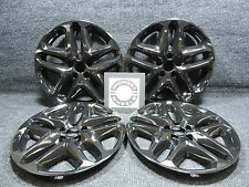 """2013 2014 2015 Ford Fusion 17"""" BLACK Wheel Covers Hubcaps Caps 766GB Hol 3957"""