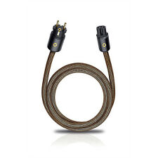 Oehlbach XXL Powercord 75 High-End HiFi Audio Netzkabel 0,75m C13 Schukostecker
