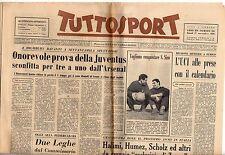 rivista TUTTOSPORT - 27/11/1958 N. 329 ONOREVOLE PROVA DELLA JUVENTUS