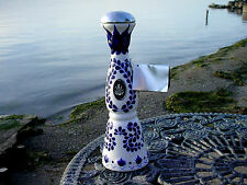 Quality CLASE AZUL Tequila Hand Made Painted Flow Blue Style 375 Bottle Decanter