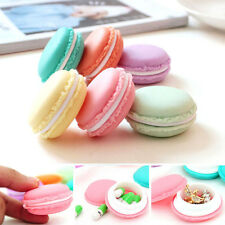 Cute Cosmetics Storage Boxes Mini Macarons Jewelry Pill Earring Box For Travel