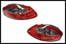 CLEAR/RED LED REAR TAILLIGHTS TAIL LIGHTS FOR 1996-2004 PORSCHE BOXSTER 986