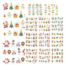 Popular Christmas 3D Nail Art Stickers Snowflakes & Cute Snowmen Nail Decals YXF