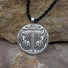 Antique Silver Plt Tree Irminsul Yggdrasil Pendant Necklace Norse Viking Saxon