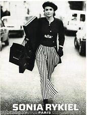 Publicité Advertising 1992 Haute Couture Sonia Rykiel par peter Lindbergh