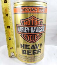 HARLEY-DAVIDSON HEAVY GOLD ORANGE WHITE BLACK OLD BEER CAN Z12