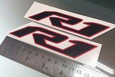 R1 New Logo Decals Stickers for Yamaha R1 2015 + (ANY COLOUR)(135mm x 30mm) X2