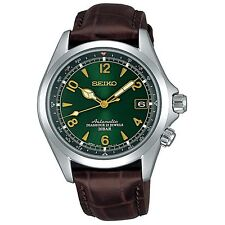 SEIKO SARB017 Mechanical Alpinist Automatic Men's Leather Watch - Made In Japan
