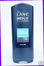 1 Dove Men +Care CLEAN COMFORT Micro Moisture Body and Face Wash Shower Gel Mild