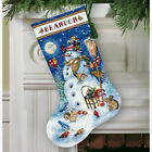 Dimensions D70-08839 Snowman & Friends Christmas Stocking Counted Cross Stitch