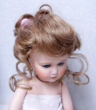 MONIQUE Doll Wig ~ LYDIA ~ 8-9- LIGHT GOLD BROWN - Updo RIBBONS & Long TENDRILS