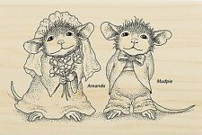 HOUSE MOUSE Wedding Mr & Meeces Wood Mounted Rubber Stamp STAMPENDOUS HMP26 New