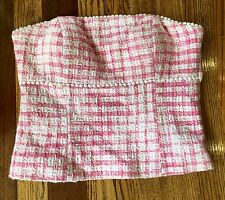 Lilly Pulitzer Pink Plaid Bustier Strapless Top Size 4 Palm Beach