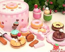 Mother garden strawberry donut party Age3+ pretend play house kitchen Wood toys