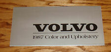 Original 1987 Volvo Color & Upholstery Guide Brochure 87 240 740 760