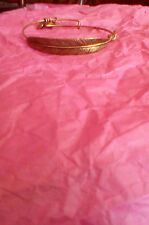 Alex and Ani Feather Quill Gold Wrap Bangle Bracelet
