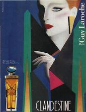 Publicité Advertising 1970 parfum CLANDESTINE de GUY LAROCHE