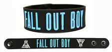 FALL OUT BOY Rubber Bracelet Wristband Save Rock and Roll Blue