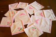 4 Platzdecken 6 Servietten rosa Schmetterling Aplikation Blumen Vintage Decke n5