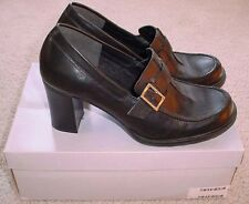 women's PARADE OF SHOES Black  loafer high heels shoes sz. 9.5 9 1/2 BOX