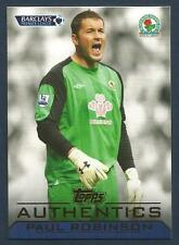 TOPPS AUTHENTICS 2011-12- #BL07-BLACKBURN ROVERS-TOTTENHAM-LEEDS-PAUL ROBINSON