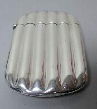 LARGE ANTIQUE STERLING SILVER 6-TUBE CIGAR CASE, NICE HEAVY WEIGHT of 136 GRAMS