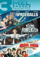 3 Mel Brooks Favorites: Spaceballs/Young Frankenstein/Robin Hood New DVD