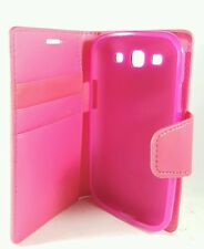 Hot pink diary  case For Samsung Galaxy S3