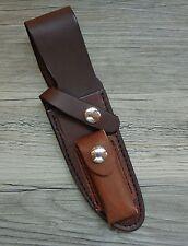 NOS Northwoods Knives Gladstone MI Leather Knife Sheath w/Sharpening Stone