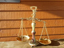 Balance Scales of Justice Lawyer - Reproduction- Flea Market Decorating! Ornate