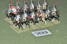 25mm napoleonic french grenadier a cheval 12 cavalry (7633) painted metal
