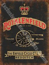 Vintage Garage Royal Enfield, 126, Motorcycles Motorbike, Medium Metal/Tin Sign