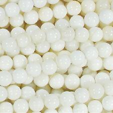 8MM WHITE SHELL ROUND NATURAL GEMSTONE BEADS 16 IN STRAND