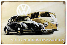 Der Volkwagon Bug or Van Both very cool Drive one today Metal Sign
